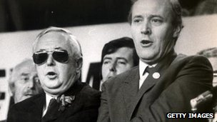 Harold Wilson and Tony Benn
