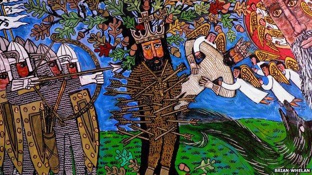 The Martyrdom of St Edmund by Brian Whelan, 2004