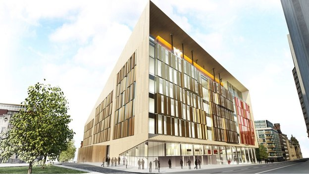 Artist's impression of Technology and Innovation Centre at Strathclyde University