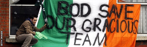 Flag in support of Brian O'Driscoll