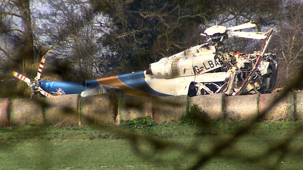 Scene of AW139 helicopter crash