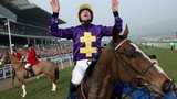 Davy Russell celebrates victory on Lord Windermere before stewards inquiry is called