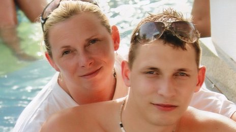 Helen and her son Daniel Birch who was killed in a car crash
