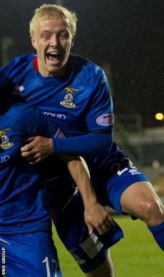 Inverness midfielder Conor Pepper