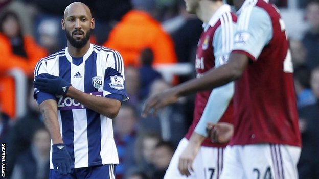 Nicolas Anelka making the 'quenelle' gesture