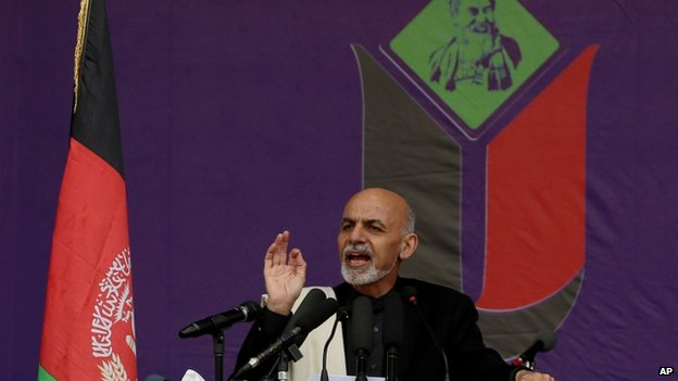 Ashraf Ghani at rally