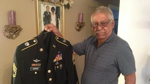 Melvin Morris with his military uniform