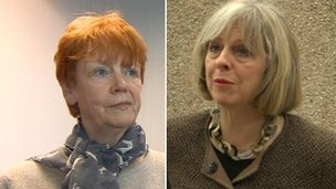 Vera Baird and Theresa May