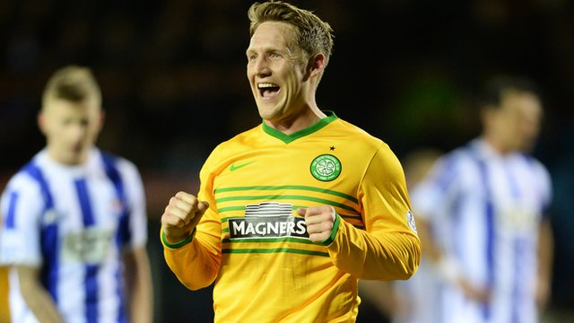 Kris Commons scored all three of Celtic's goals at Rugby Park