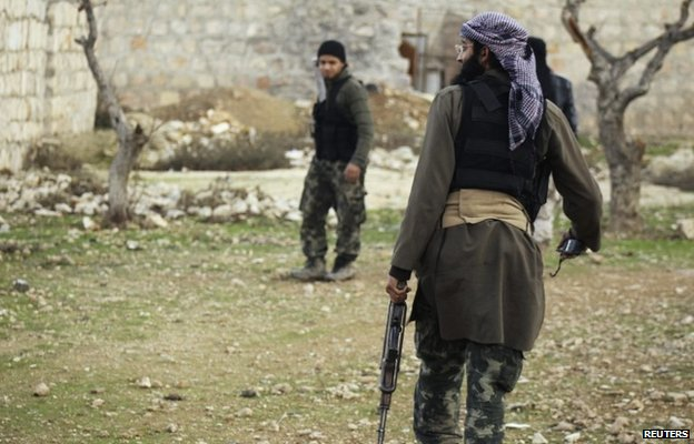 Members of the al-Nusra Front near Aleppo international airport (28 January 2014)