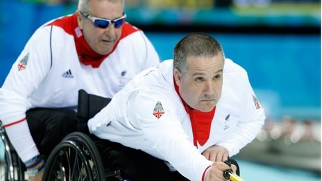 GB wheelchair curlers Jim Gault and Bob McPherson