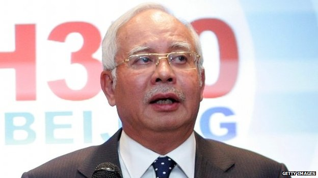 Malaysian PM Najib Razak, 15 March 2014