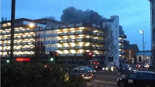 Assembly Rooms car park fire in Derby