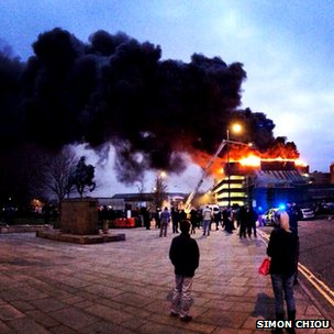 Fire at the Assembly Rooms in Derby