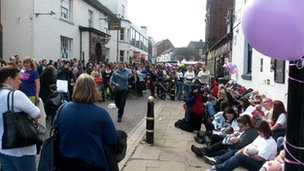 Hundreds gather in Rugeley for mass breast feeding event