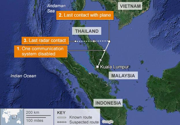 bcc image of flight MH370 path