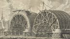 Giovanni Battista Piranesi, A view of part of the intended bridge at Blackfriars, London, 1763 (engraving)