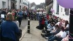 Rugeley breastfeeding protest