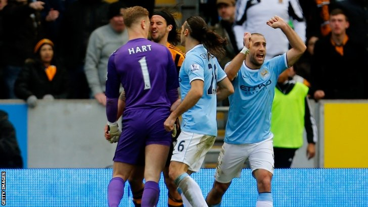 Joe Hart is angry with George Boyd