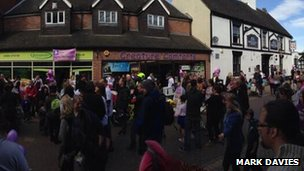 People gather in Rugeley for mass breast feeding event
