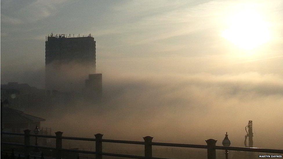 The fog in Margate. Photo: Martyn Daynes