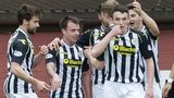 St Mirren celebrate