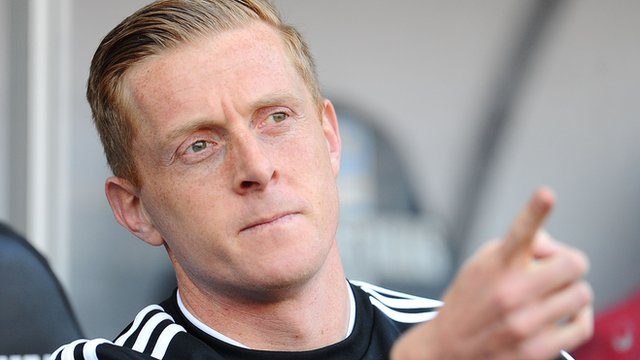 Garry Monk watches on as Swansea lose to West Brom