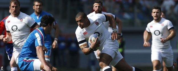 England's Luther Burrell
