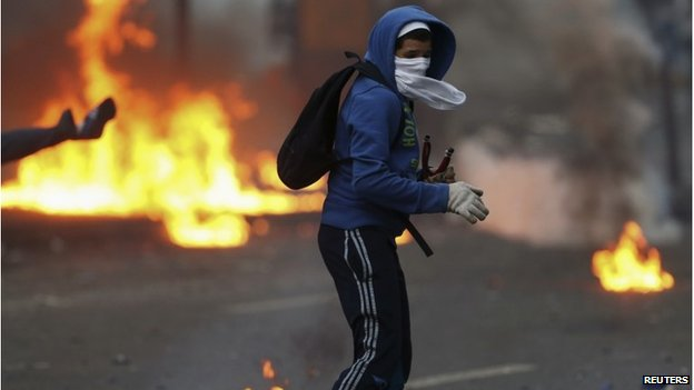 Protester in Altamira, Caracas