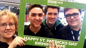 BBC WM do St Patrick's Day Parade