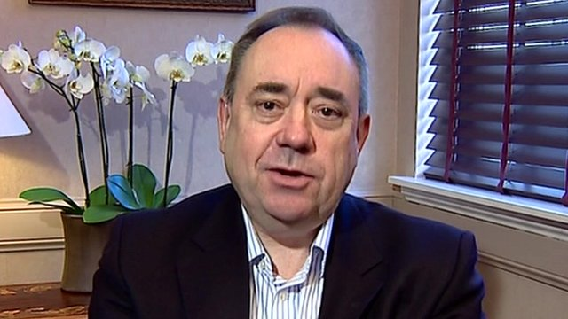 Salmond wants common sense and good will