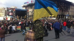 Maidan square in Kiev (16 March 2014)
