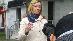 Voter in Crimea (16 March 2014)