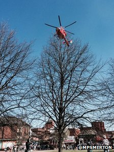 Air ambulance in Mitcham