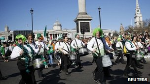 Irish marching band