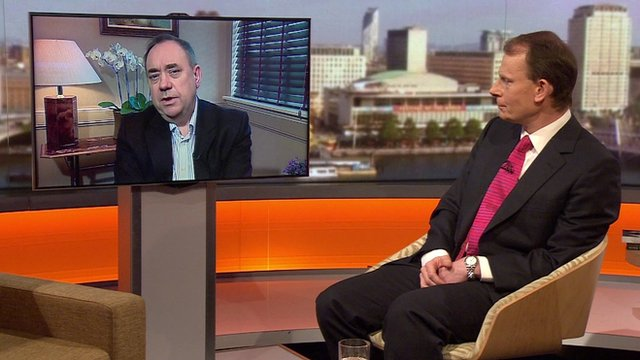 Alex Salmond and Andrew Marr