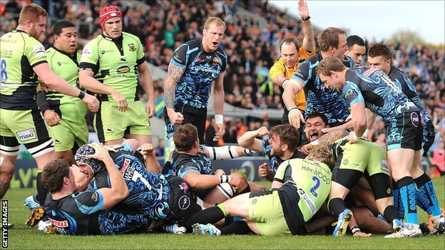 Exeter celebrate