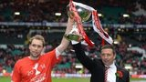 Aberdeen captain Russell Anderson and manager Derek McInnes