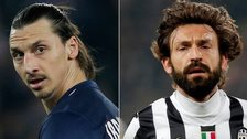 Zlatan Ibrahimovic and Andrea Pirlo