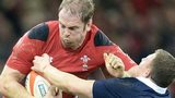 Duncan Weir is brushed aside by Alun Wyn Jones