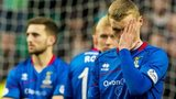 Inverness players look dejected