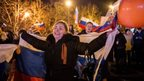 People in Crimea celebrate referendum results. Photo: 16 March 2014