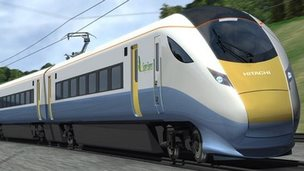 Electric train - artist's impression