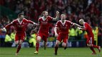 Aberdeen players celebrate
