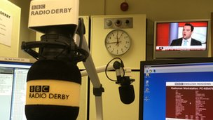 BBC Radio Derby microphone