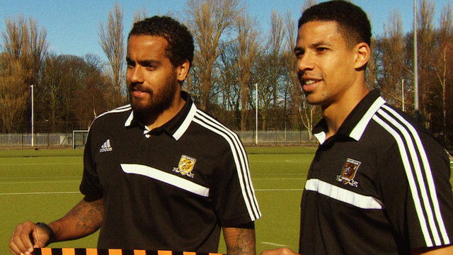 Hull City players Tom Huddlestone and Curtis Davies