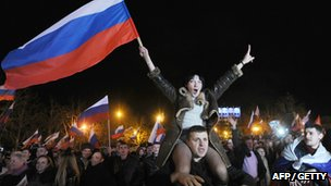 Pro-Russian Crimeans celebrate