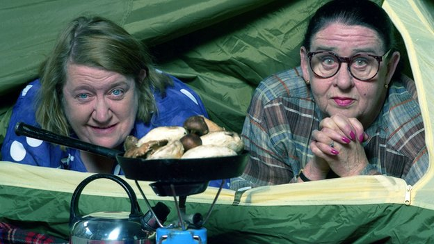 Clarissa Dickson Wright and Jennifer Paterson in Two Fat Ladies