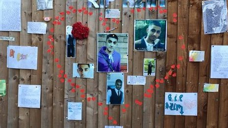 Roadside tributes to Azim Azam