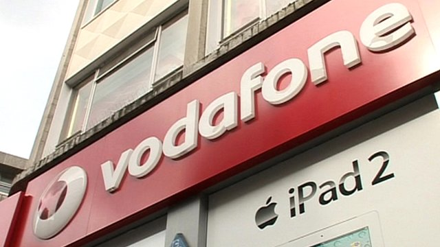 Vodafone shop sign